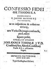 Confessio fidei orthodoxa, confessioni P. Jac. Masenii ... opposita