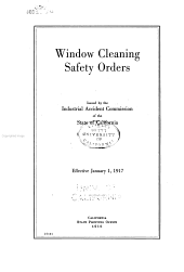 Window Cleaning Safety Orders