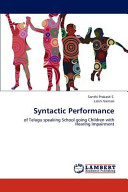 Syntactic Performance