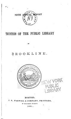 Annual Report of the Trustees of the Brookline Public Library