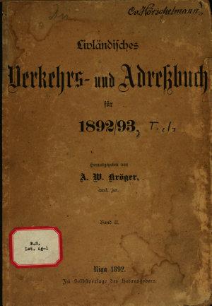 Livl  ndisches Verkehrs  und Adressbuch f  r     PDF