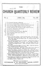 The Church Quarterly Review: Volume 20