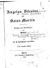 Angelus Silesius und Saint-Martin: Auszüge und Bemerkungen