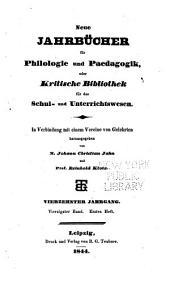 Neue Jahrbücher für Philologie und Paedagogik: Band 40