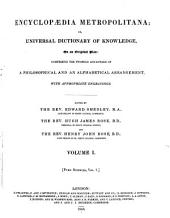Encyclopaedia Metropolitana: Pure sciences