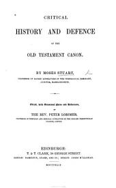 Critical history and defence of the Old Testament Canon