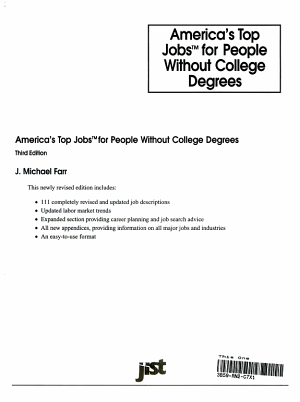America s Top Jobs for People Without College Degrees PDF
