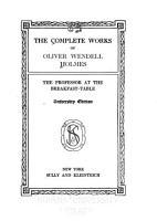 The Complete Works of Oliver Wendell Holmes PDF