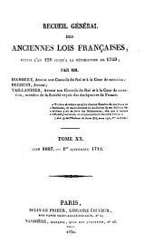 Recueil général des anciennes lois françaises depuis l'an 420 jusqu'à la Révolution de 1789