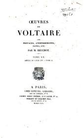 Oeuvres de Voltaire: Volume20