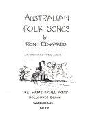 Australian Folk Songs PDF