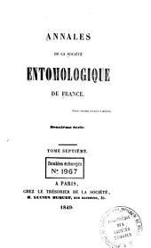 Annales de la Société entomologique de France: Volume18