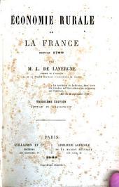 Economie rurale de la France depuis 1789