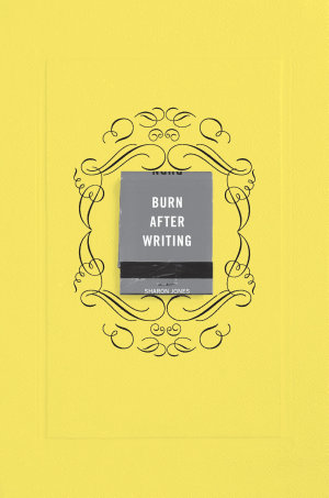 Burn After Writing  Yellow