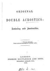 Original double acrostics [signed A.B.].
