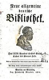 Neue allgemeine deutsche Bibliothek: Band 93