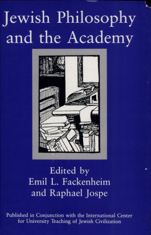 Jewish Philosophy and the Academy