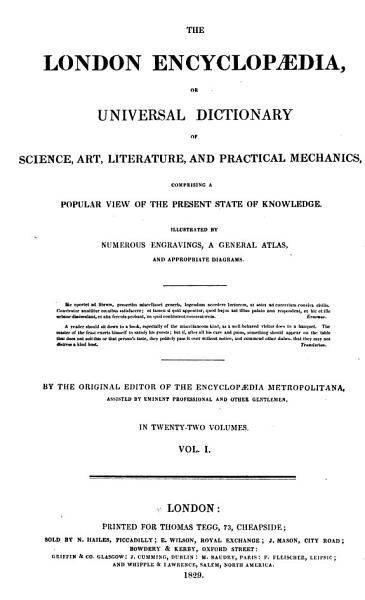 Download London Encyclopaedia  Or  Universal Dictionary of Science  Art  Literature and Practical Mechanics Book