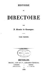 Histoire du Directoire: Volume1