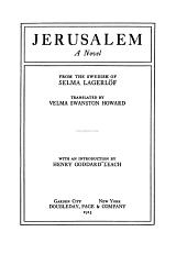 Jerusalem: A Novel, Part 1