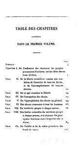 Traité de la propriété: Volume1