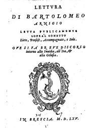 Lettura letta publicamente sopra'l sonetto: Liete Pensose, Accompagnato, e Sole