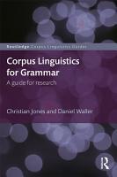 Corpus Linguistics for Grammar PDF