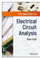 Introduction to Electrical Circuit Analysis PDF