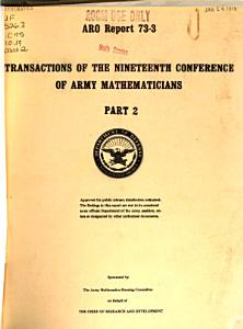 Transactions of the     Conference of Army Mathematicians PDF