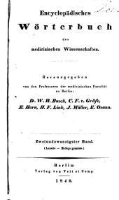 Encyclopädisches wörterbuch der medicinischen wissenschaften: Band 22