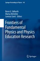 Frontiers of Fundamental Physics and Physics Education Research PDF