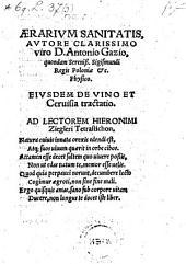 Aerarium sanitatis ... Ejusdem de vino et ceruisia tractatio