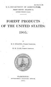 Forest Products of the United States, 1905
