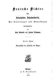 Deutsche Dichter des siebzehnten Jahrhunderts: Mit Einleitungen und Anmerkungen, Band 3