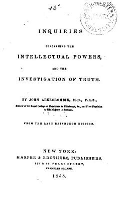 Inquiries Concerning the Intellectual Powers PDF