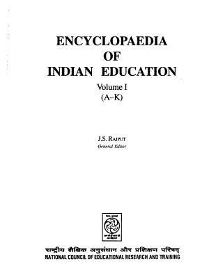 Encyclopaedia of Indian Education