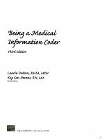 Being a Medical Information Coder PDF