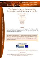 The Nexus between Immigration  Integration and Citizenship in the EU PDF