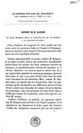 Rapport sur une notice de M. le major Guillaume concernant les bandes d'ordonnance
