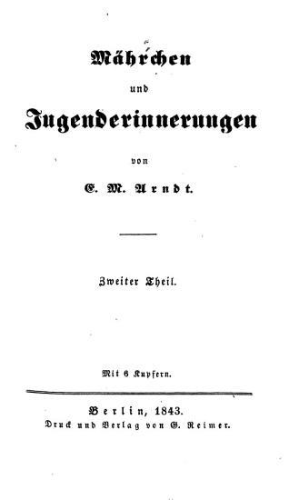 M  hrchen und Jugenderinnerungen PDF