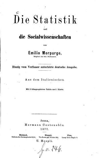 Die Statistik und die Socialwissenschaften PDF