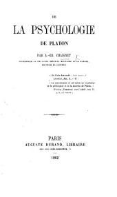 De la psychologie de Platon