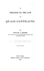 A Treatise on the Law of Quasi contracts PDF