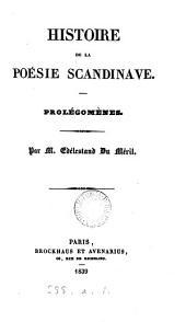 Histoire de la poésie scandinave, prolégomènes