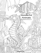 Wonderful Animals Coloring Book for Grown-Ups 1 & 2