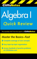 CliffsNotes Algebra I Quick Review  2nd Edition PDF