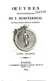 Oeuvres philosophiques de F. Hemsterhuis: Volume2