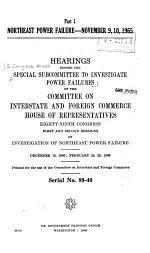 Northeast Power Failure, November 9, 10, 1965
