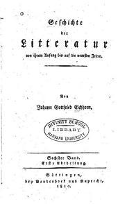 Geschichte der theologischen wissenschaften seit der verbreitung der alten litteratur: Band 1