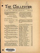 The Collector: A Monthly Magazine for Autograph and Historical Collectors, Volume 23, Issue 4